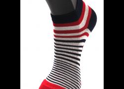 Socquettes en Coton à Rayures Asymétriques